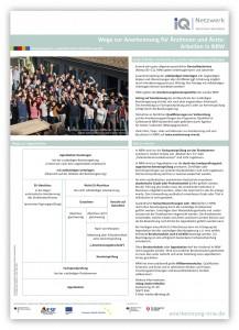 Plakat »Wege zur Anerkennung für Ärztinnen und Ärzte in NRW«
