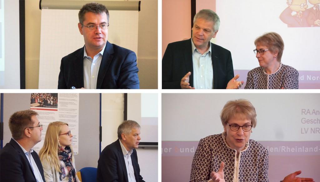 Eröffnung des Intensivkurses Fachsprache Medizin in Kooperation mit dem Marburger Bund Landesverband NRW / RLP: Andreas Höffken, Dr. Hans-Albert-Gehle, Dr. Anne Bunte