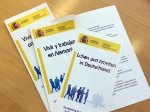 Flyer Vivir y trabajar en Alemania – Leben und Arbeiten in Deutschland