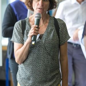 Cornelia Jacobi, AWO Fachdienst Migration und Integration Düsseldorf, im mibeg-Institut Medizin, Foto: Kai Funck