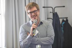 Lukas Schmülling, Dezernent Landesprüfungsamt für Medizin, Psychotherapie und Pharmazie, Düsseldorf, im mibeg-Institut Medizin, Foto: Kai Funck
