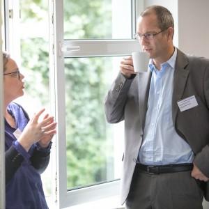 Christin Vollrath und Ulrich Schröter-Dommes, Contilia-Klinikgruppe, Essen, im mibeg-Institut Medizin, Foto: Kai Funck
